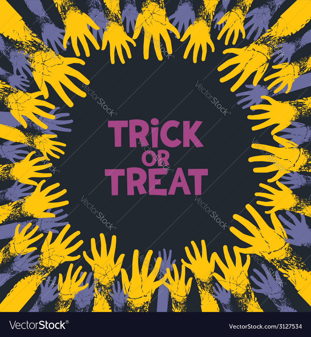 Trick or treat card design vector | Price: 1 Credit (USD $1)