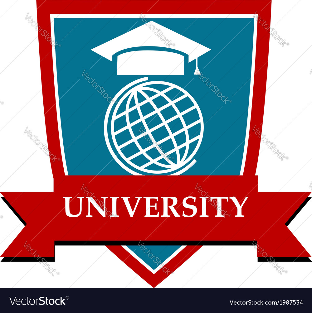 University emblem vector | Price: 1 Credit (USD $1)