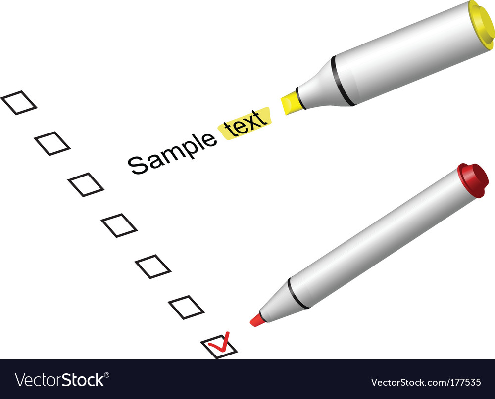 Check box marker vector | Price: 1 Credit (USD $1)