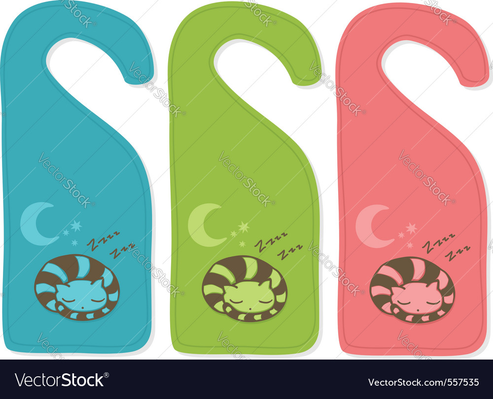 Cute door hangers vector | Price: 1 Credit (USD $1)
