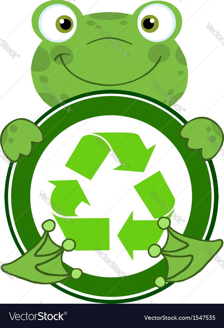 Recycle eco logo frog vector | Price: 1 Credit (USD $1)