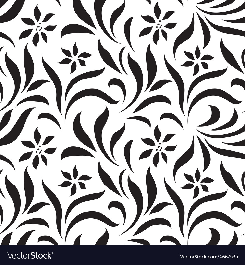 Seamless floral wallpaper with lines vector