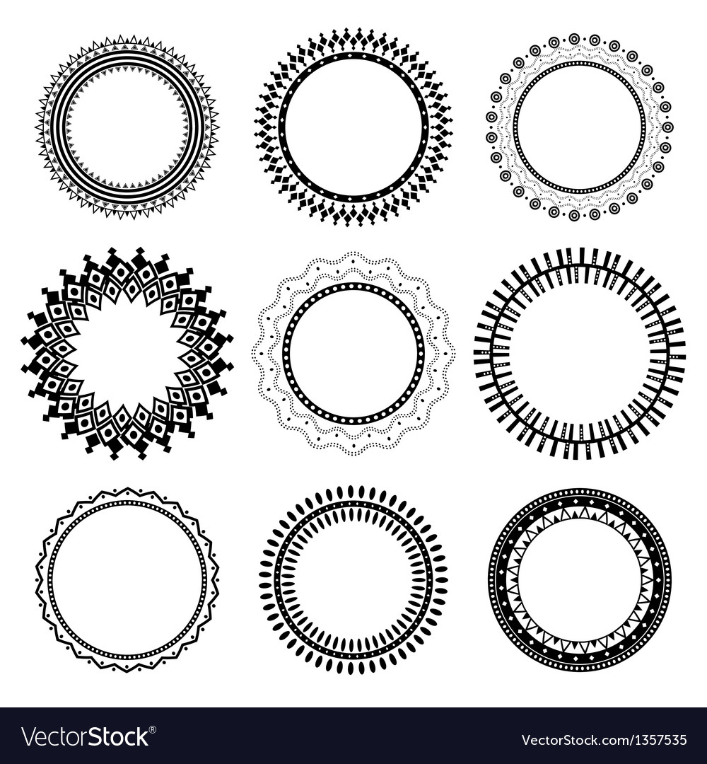 Set of ethnic frames vector | Price: 1 Credit (USD $1)