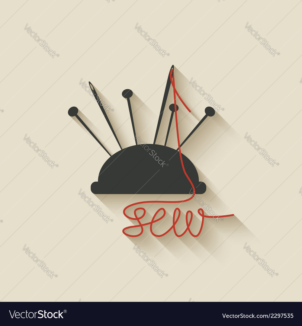 Sewing needles background vector | Price: 1 Credit (USD $1)