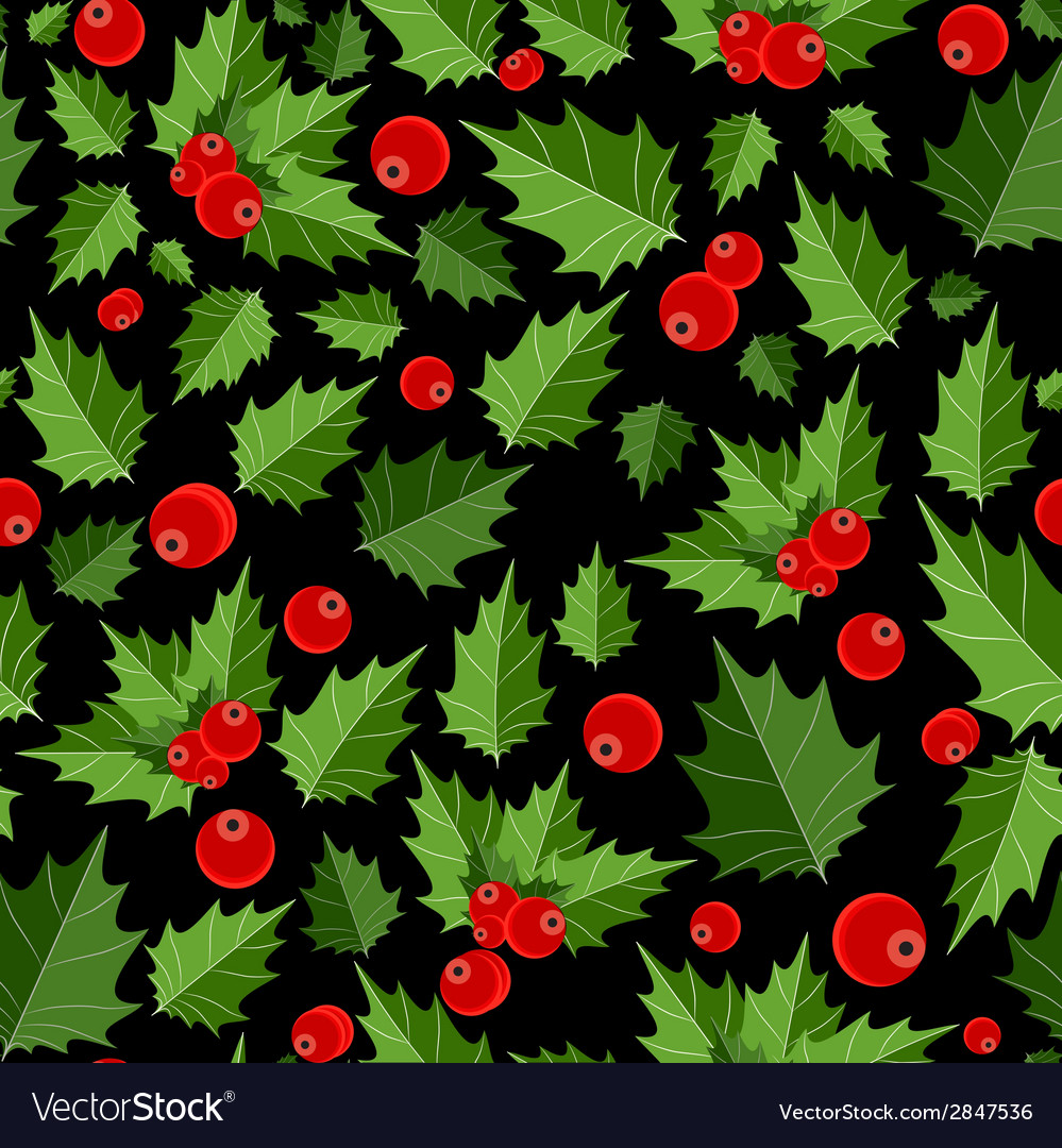 Abstract beauty christmas berry seamless pattern vector | Price: 1 Credit (USD $1)