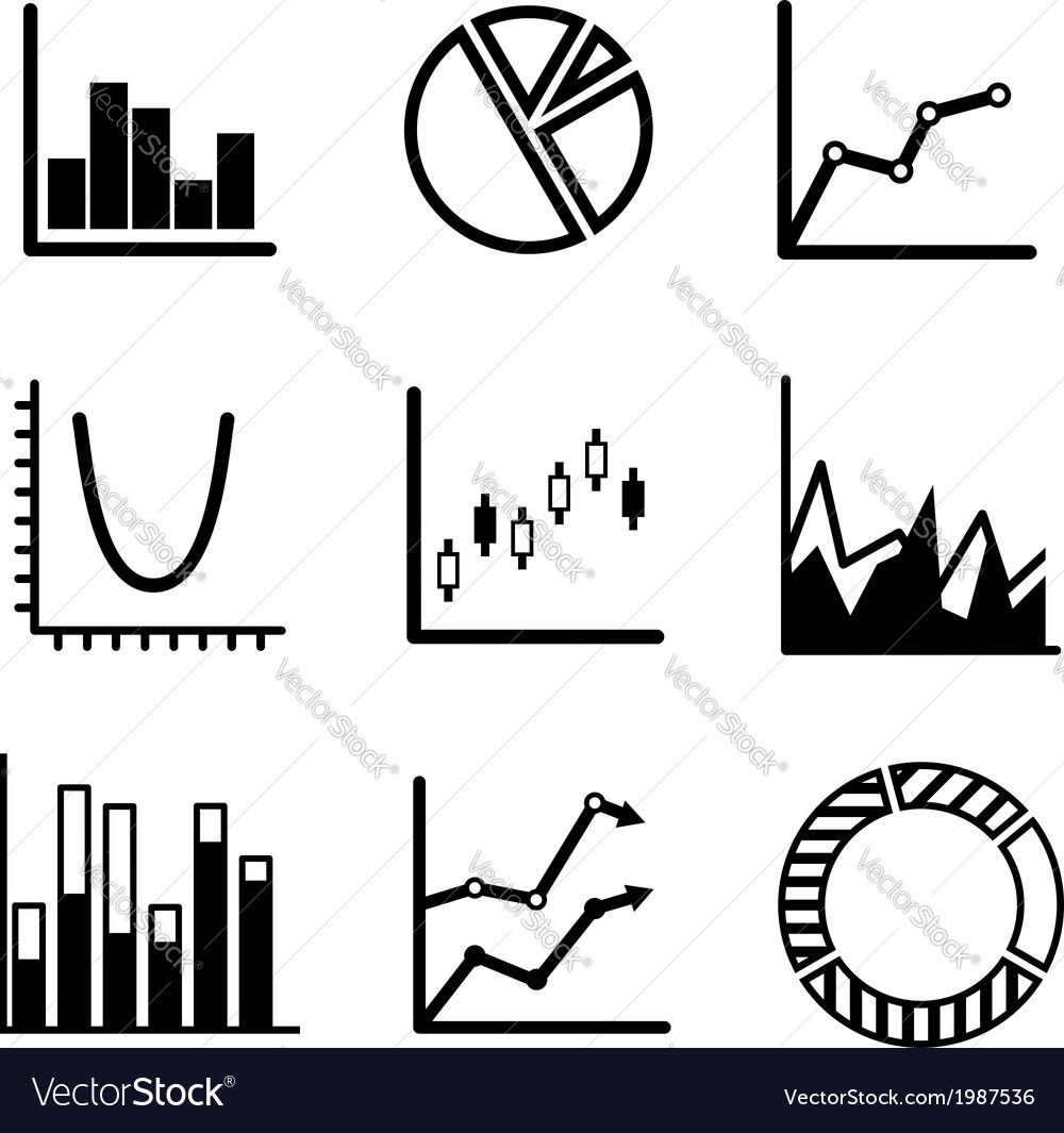 Business statistical charts and graphs vector | Price: 1 Credit (USD $1)