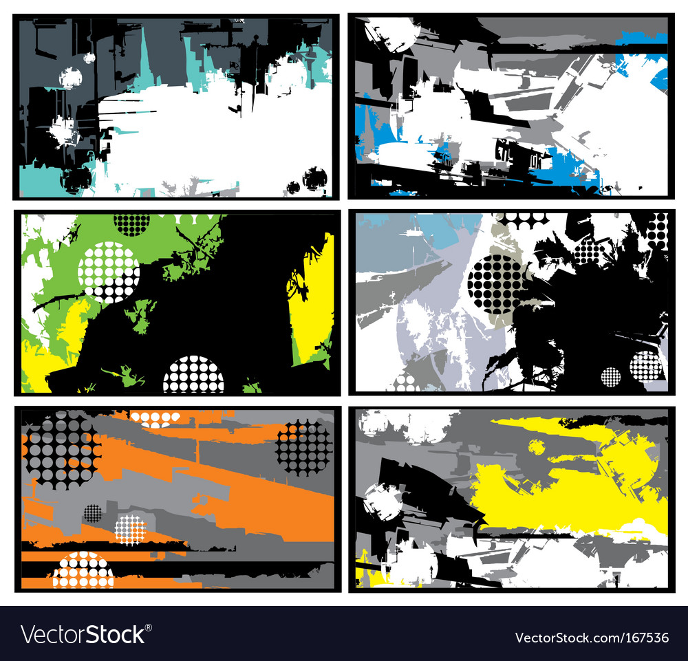 Collection of horizontal business cards vector   Price: 1 Credit (USD $1)