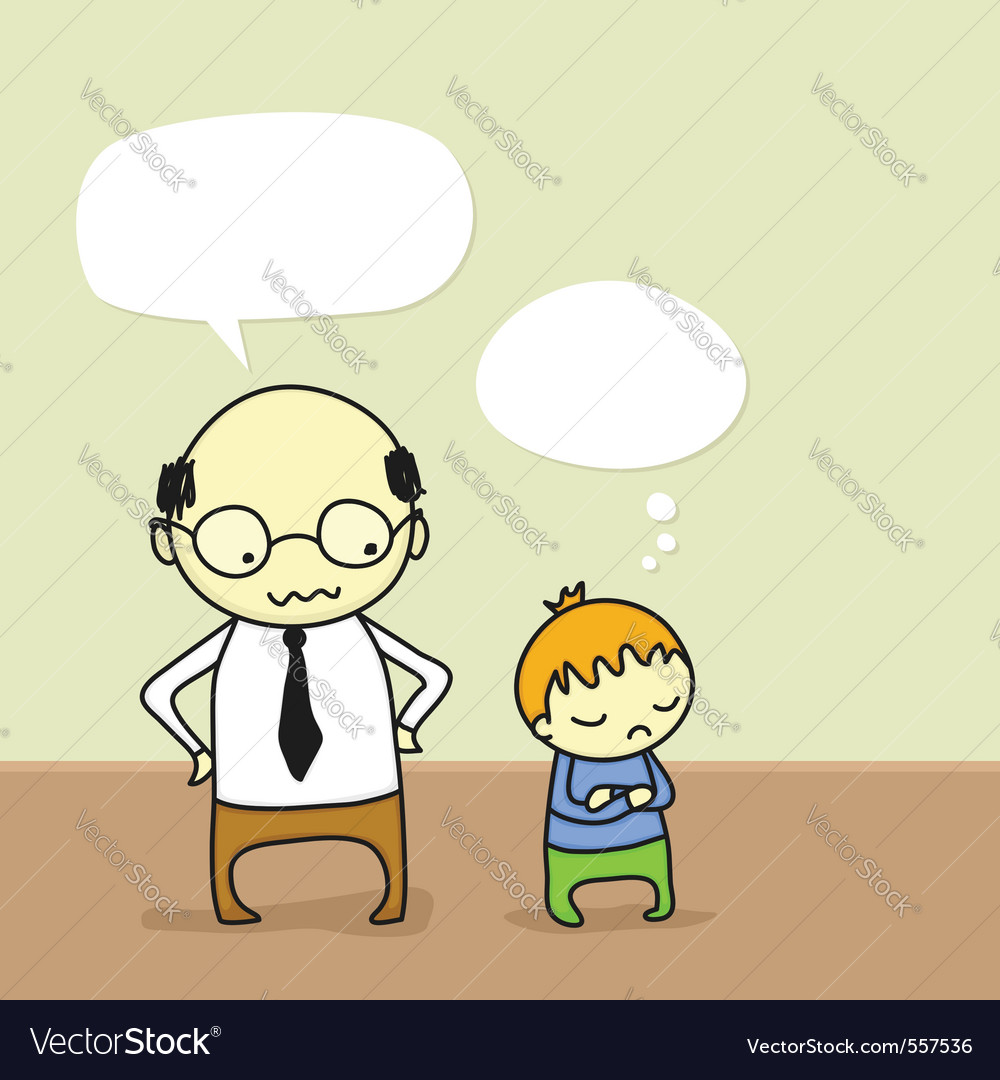 Father arguing with his son vector | Price: 1 Credit (USD $1)