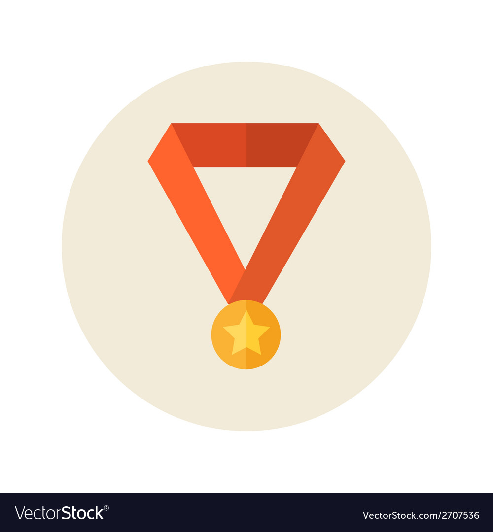 Flat medal icon vector | Price: 1 Credit (USD $1)