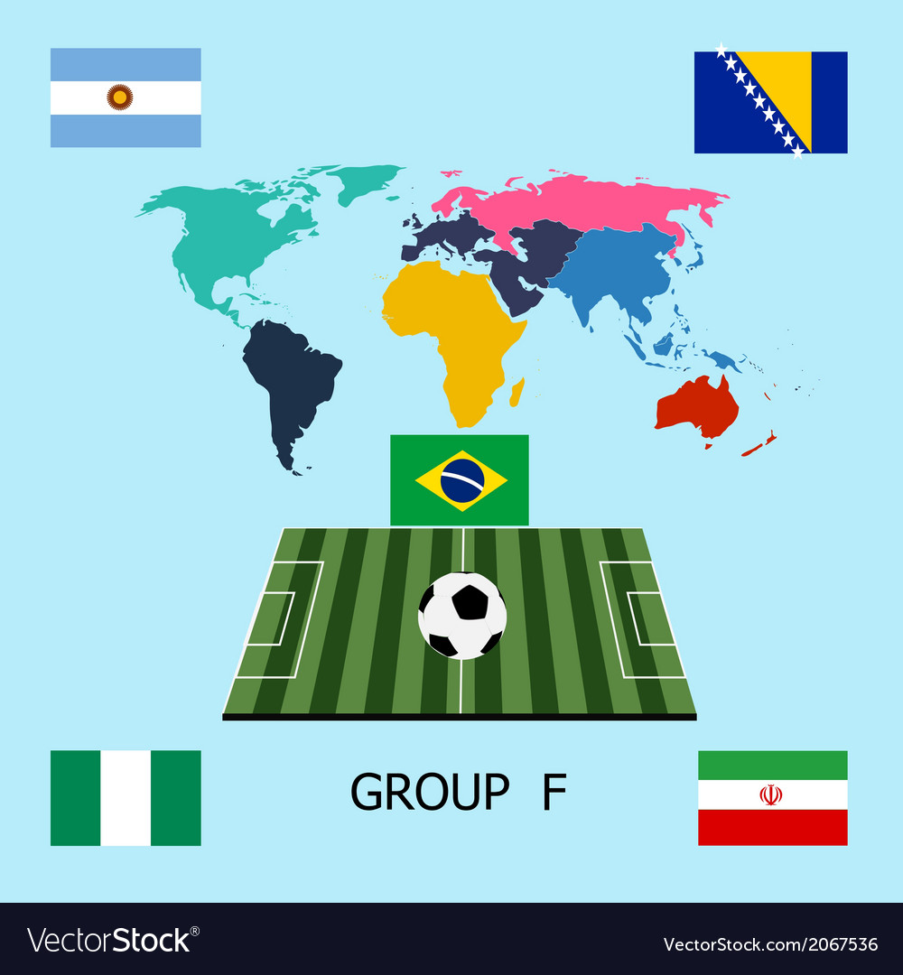 Group f - argentina bosnia iran nigeria vector | Price: 1 Credit (USD $1)