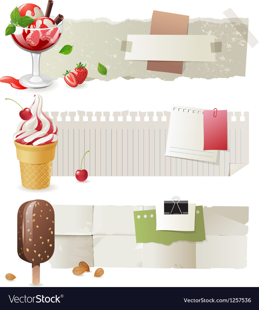 Ice cream banners vector | Price: 5 Credit (USD $5)