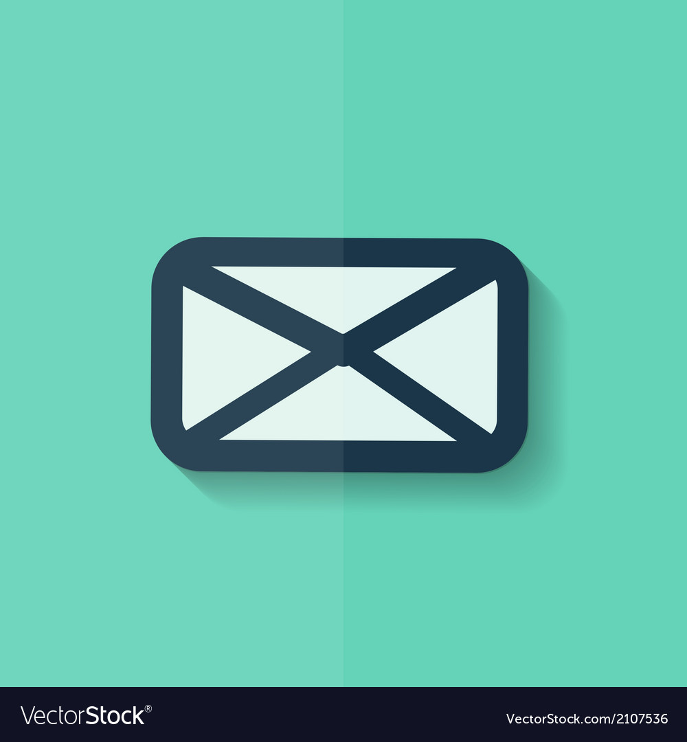 Letter icon email message sms flat design vector | Price: 1 Credit (USD $1)