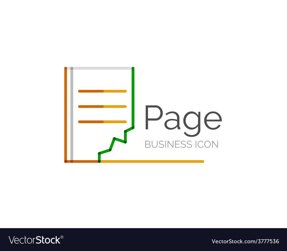 Line minimal design logo page vector | Price: 1 Credit (USD $1)