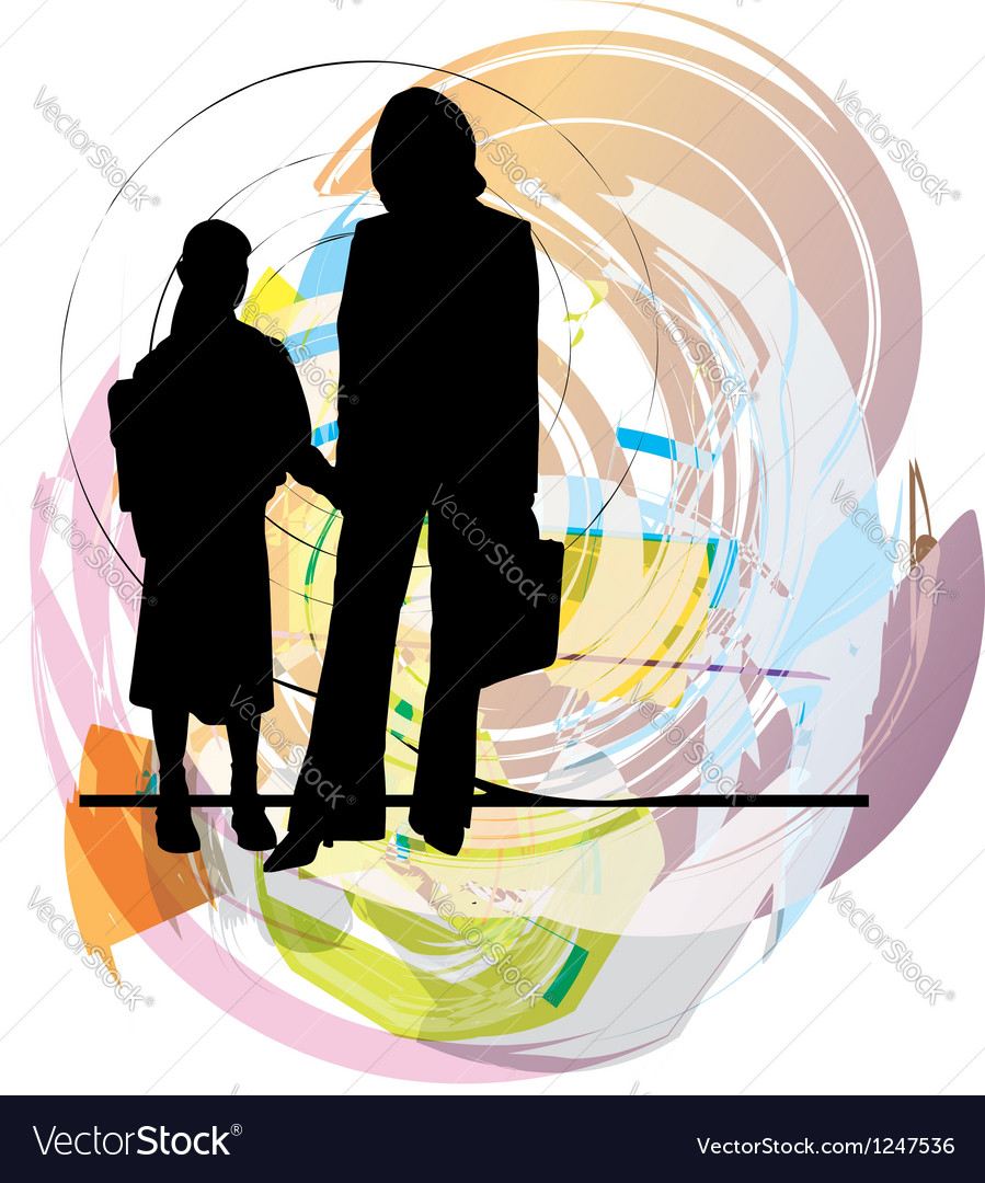 Mom and daughter vector | Price: 1 Credit (USD $1)