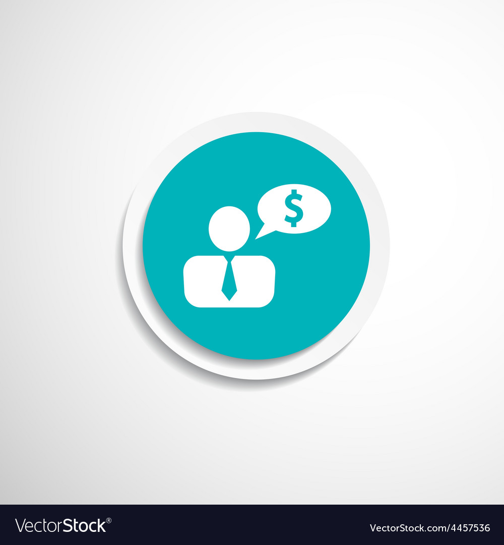 Money dollar people person banker executive smart vector | Price: 1 Credit (USD $1)