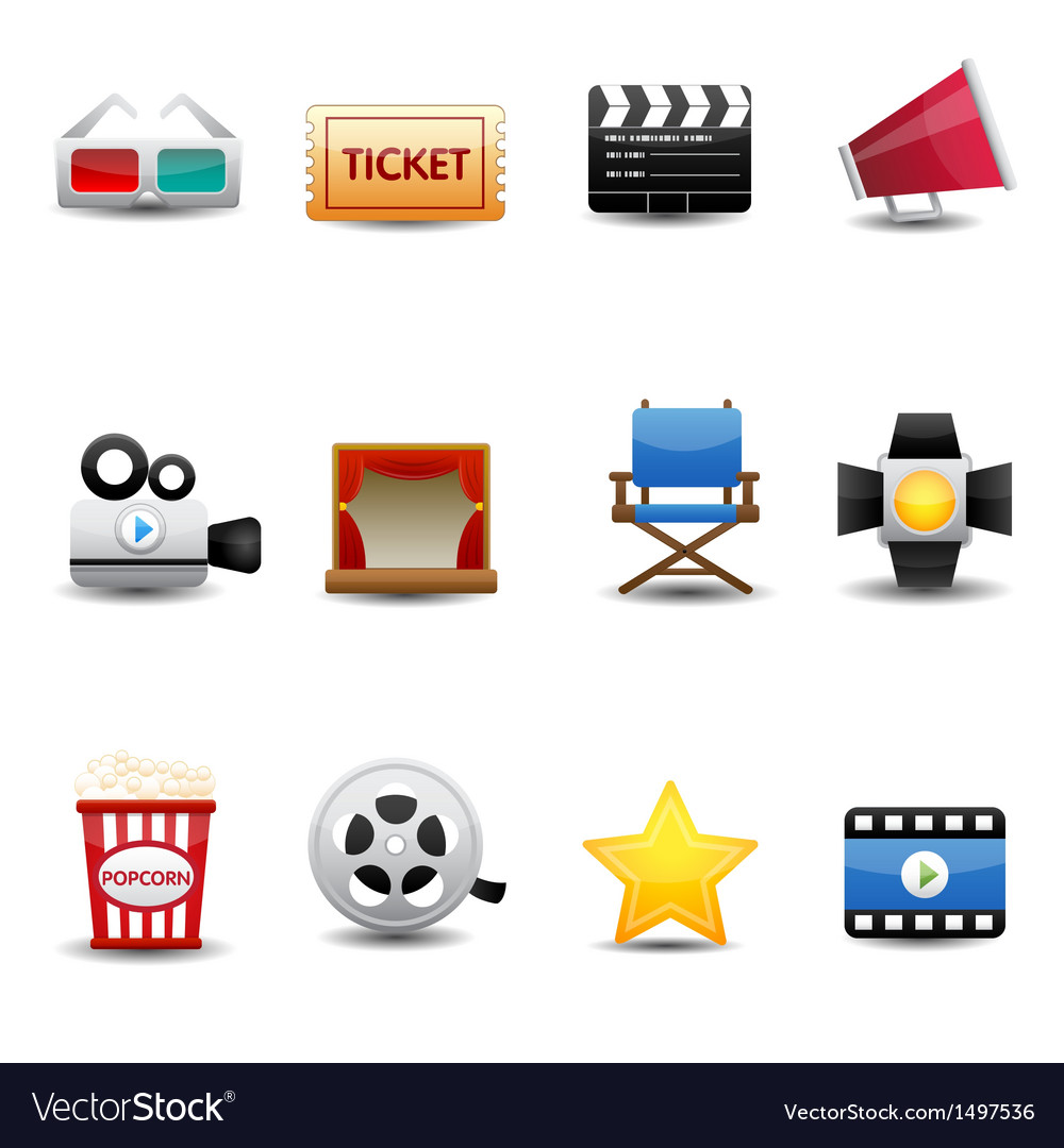 Movie icons vector | Price: 3 Credit (USD $3)