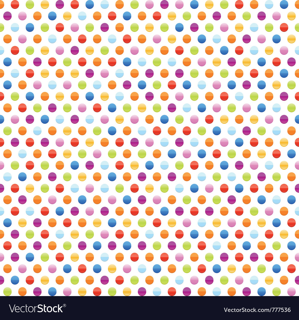Seamless background pattern with multicolored dots vector | Price: 1 Credit (USD $1)