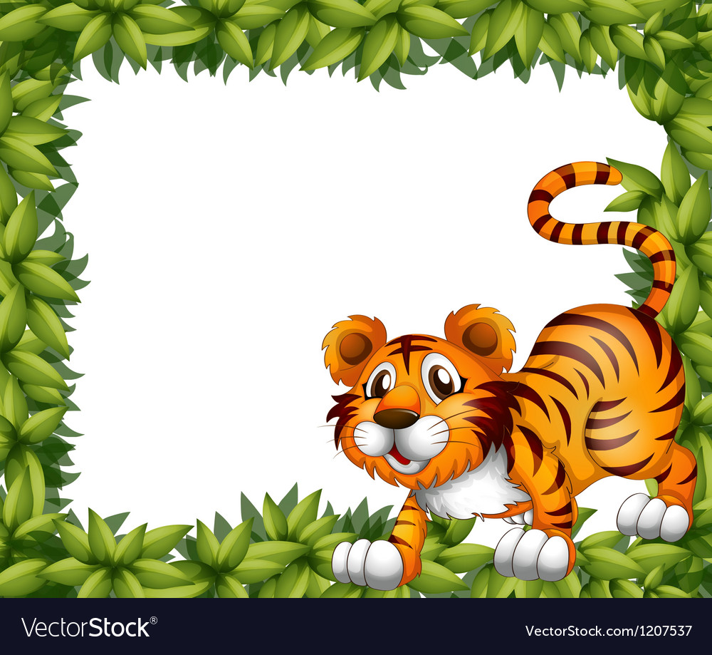A frame with a tiger vector | Price: 1 Credit (USD $1)