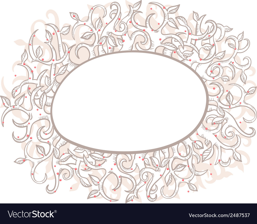 Beautiful nature frame vector | Price: 1 Credit (USD $1)