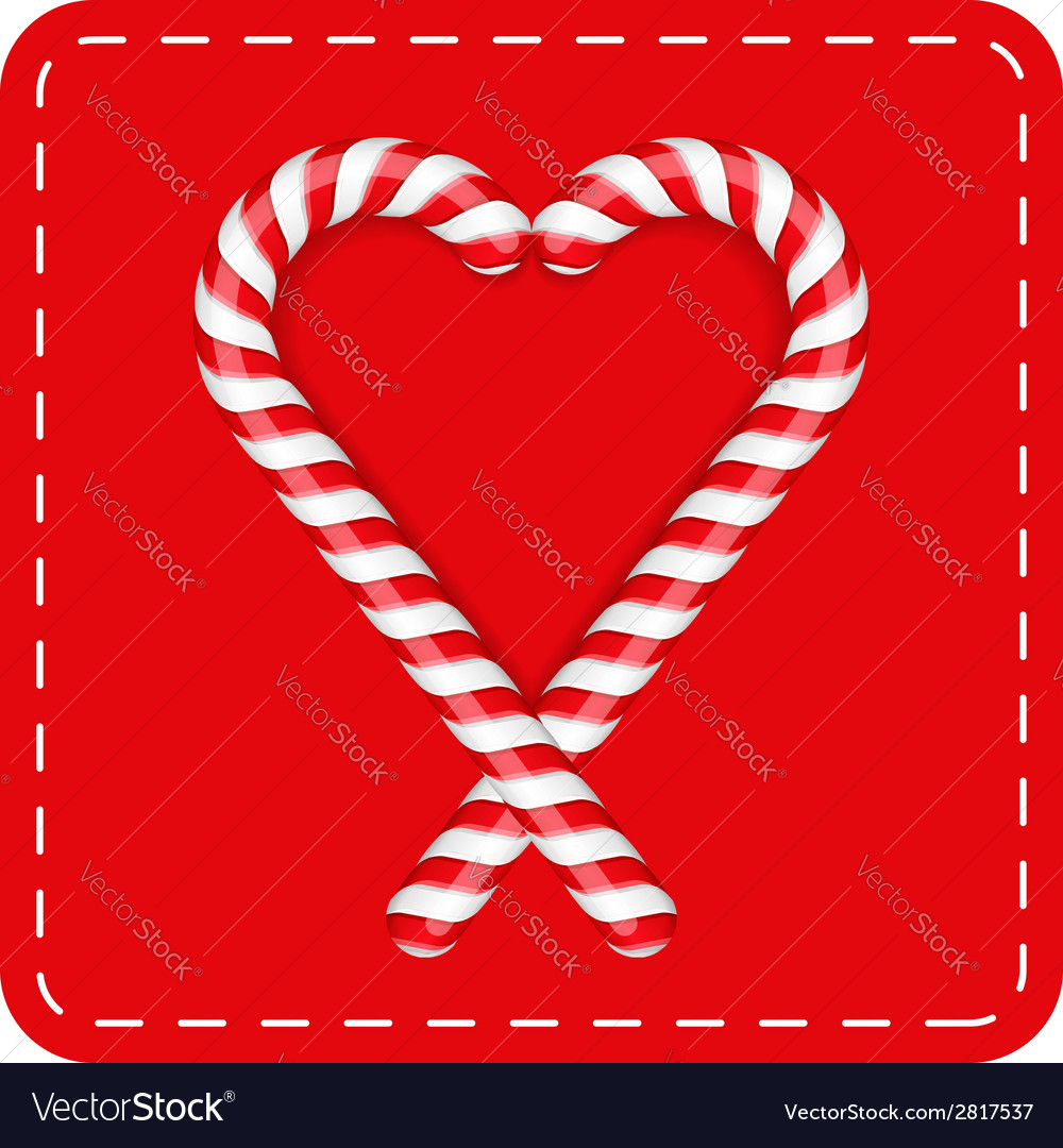 Candy canes heart vector | Price: 1 Credit (USD $1)