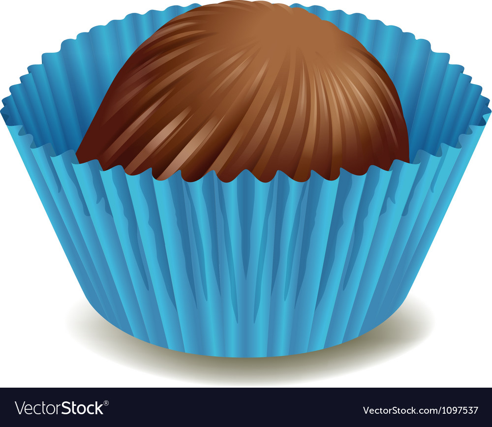 Chocolates in blue cup vector | Price: 1 Credit (USD $1)