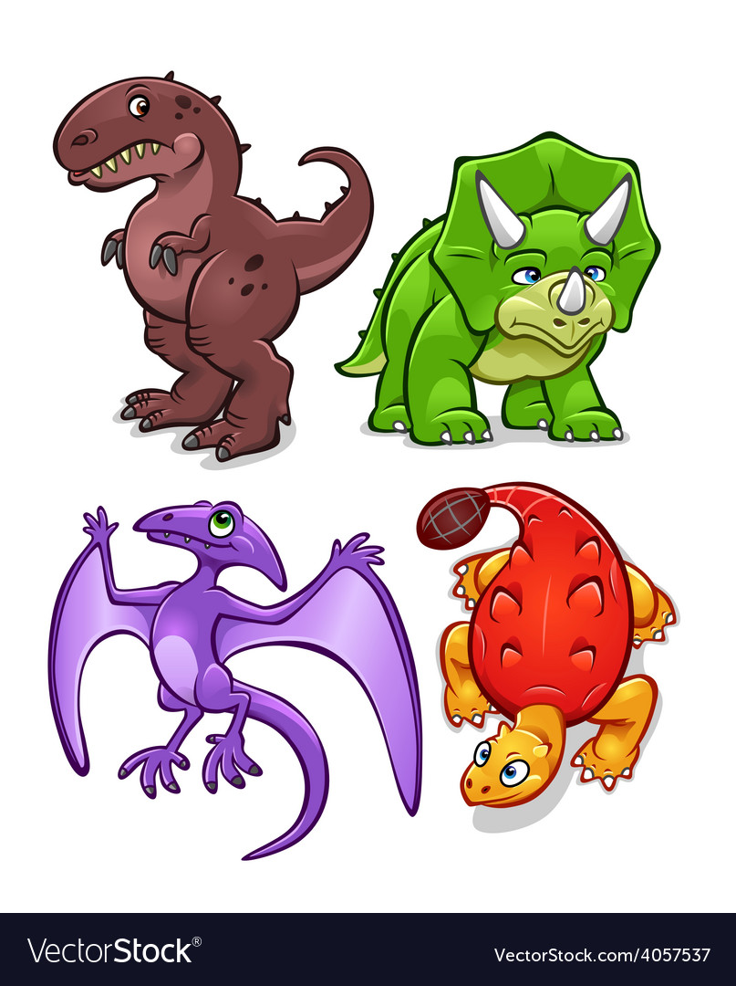 Dinosaurs set one vector | Price: 3 Credit (USD $3)