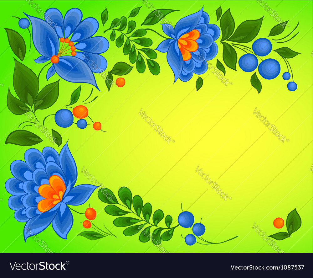 Floral backgrounds paint pattern vector | Price: 1 Credit (USD $1)