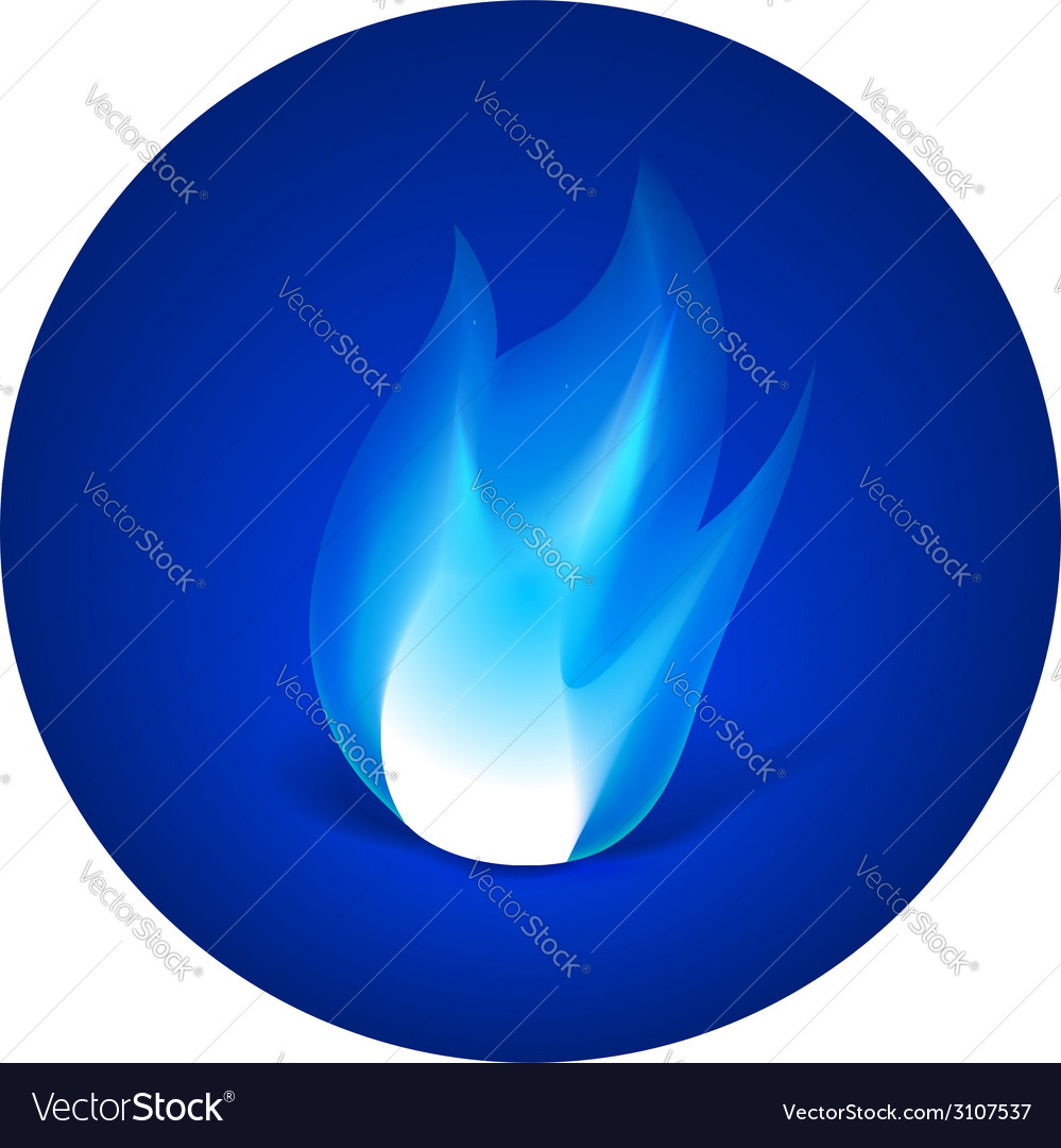 Gas fire icon vector | Price: 1 Credit (USD $1)