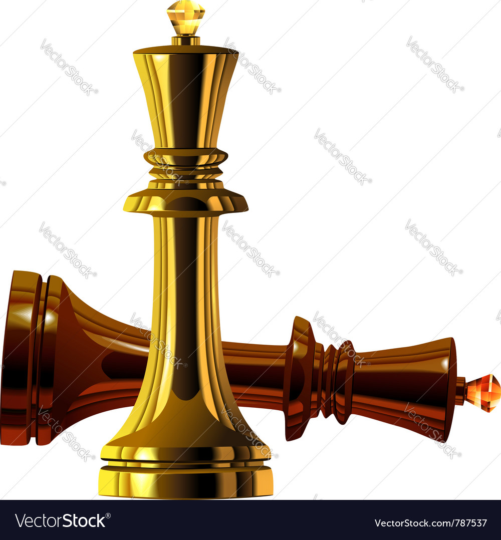 Metal chess king vector | Price: 1 Credit (USD $1)