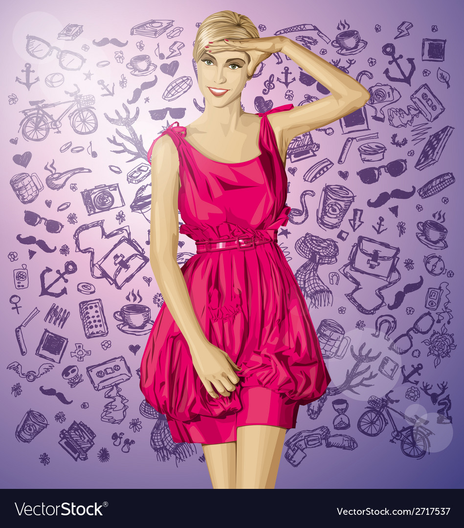 Pinup vector | Price: 3 Credit (USD $3)
