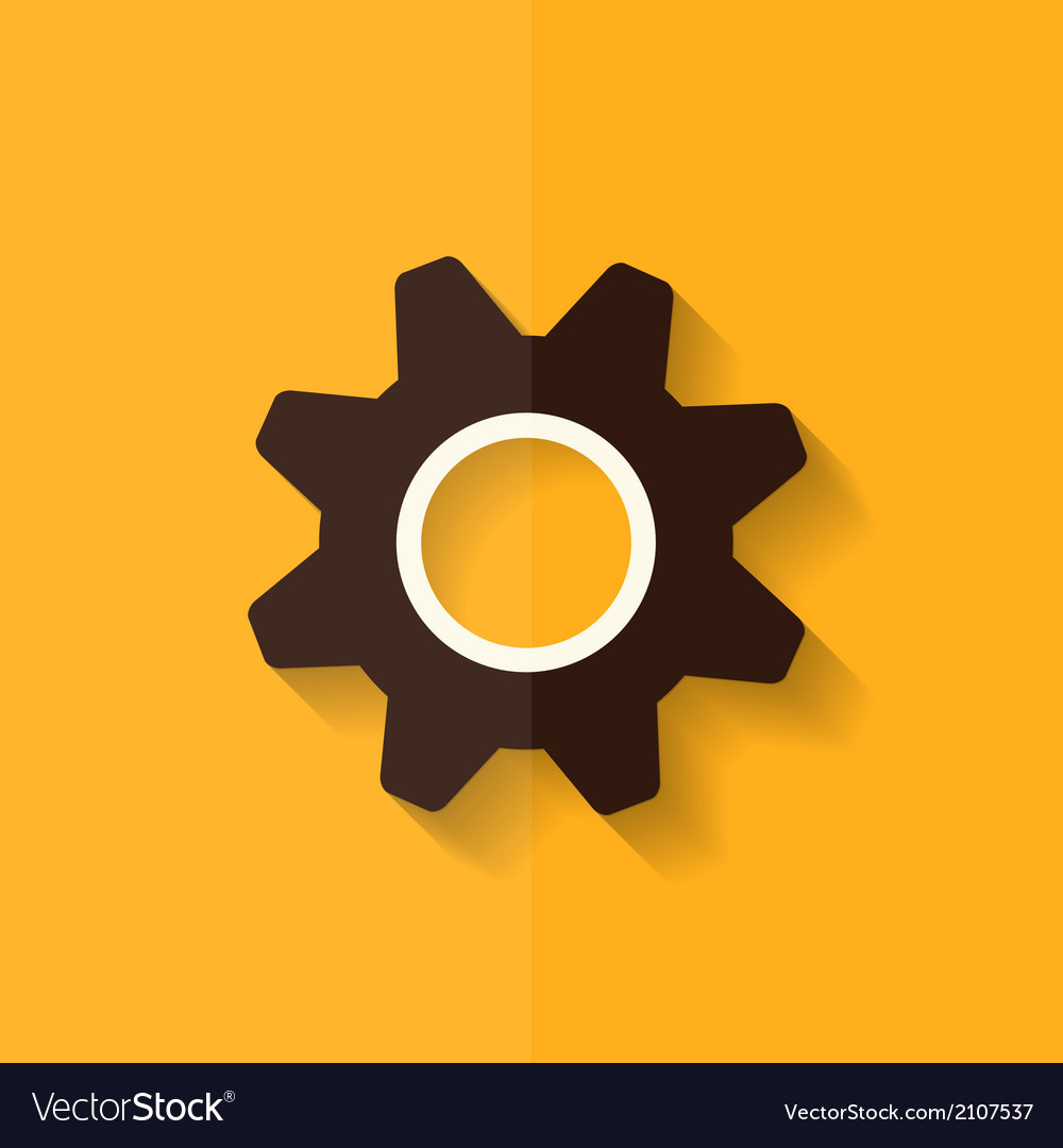 Settings icon gear symbol tools flat design vector | Price: 1 Credit (USD $1)
