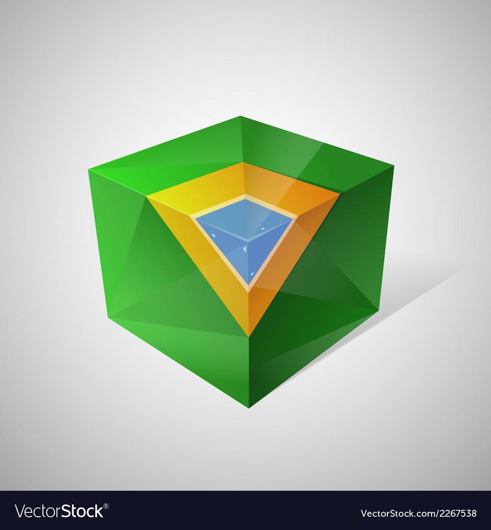 3d brasil flag vector | Price: 1 Credit (USD $1)
