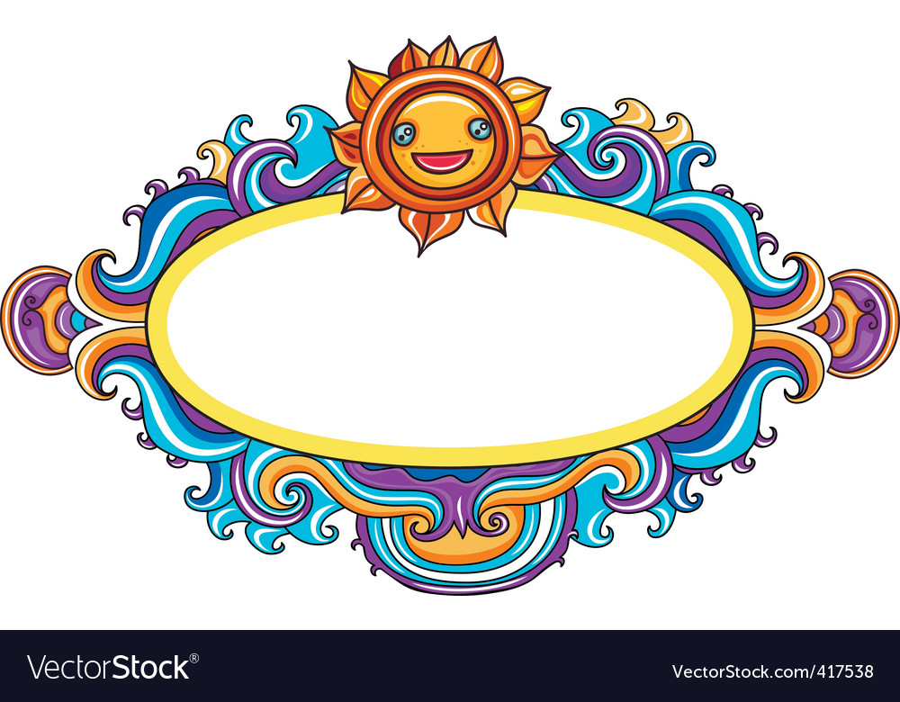 Celestial frame vector | Price: 1 Credit (USD $1)