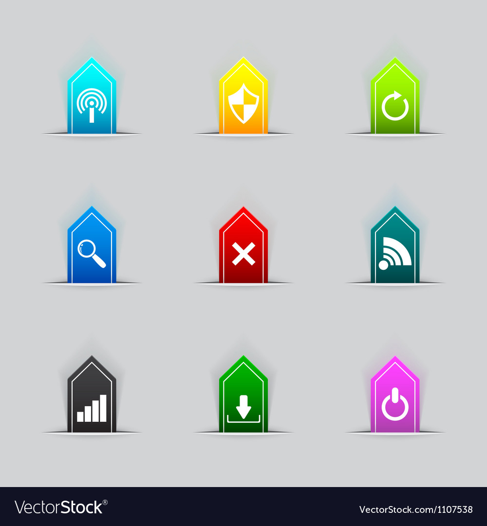 Computer network icon series vector | Price: 1 Credit (USD $1)