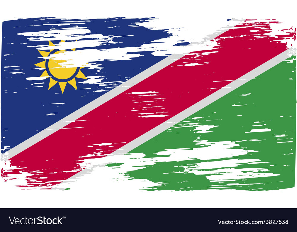 Flag of namibia with old texture vector   Price: 1 Credit (USD $1)
