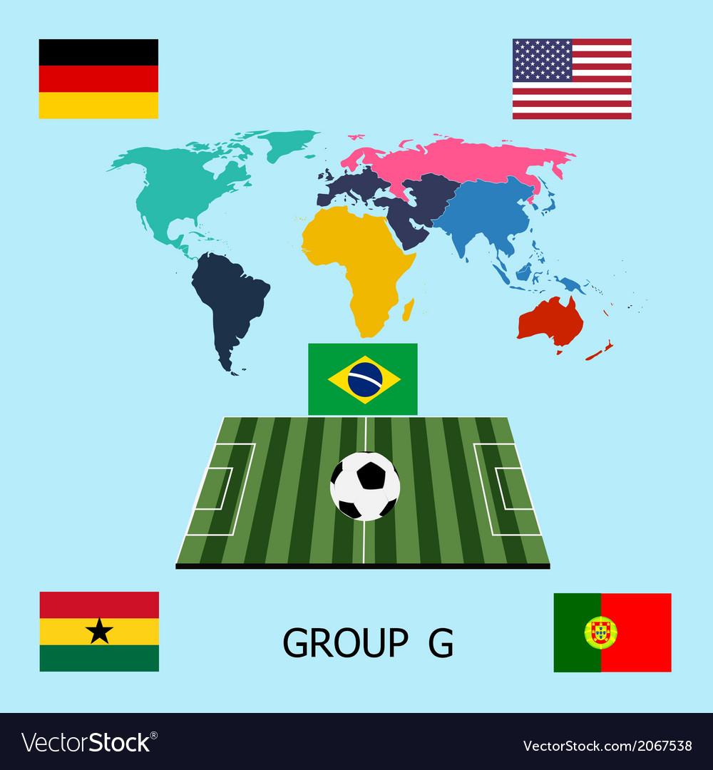 Group g - germany portugal ghana usa vector | Price: 1 Credit (USD $1)