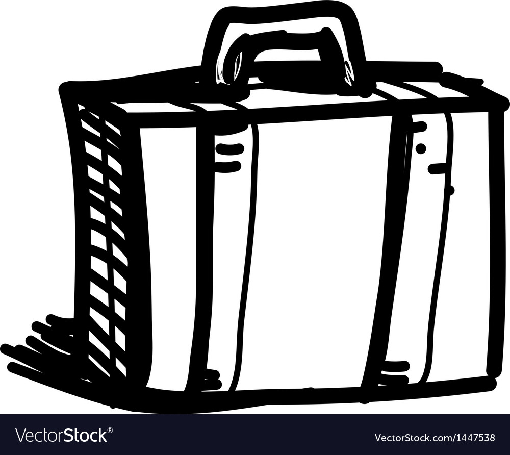 Journey suitcase sketch vector | Price: 1 Credit (USD $1)