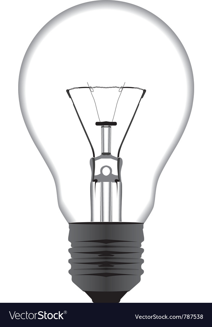 Realistic of a light bulb isolated on white vector | Price: 1 Credit (USD $1)
