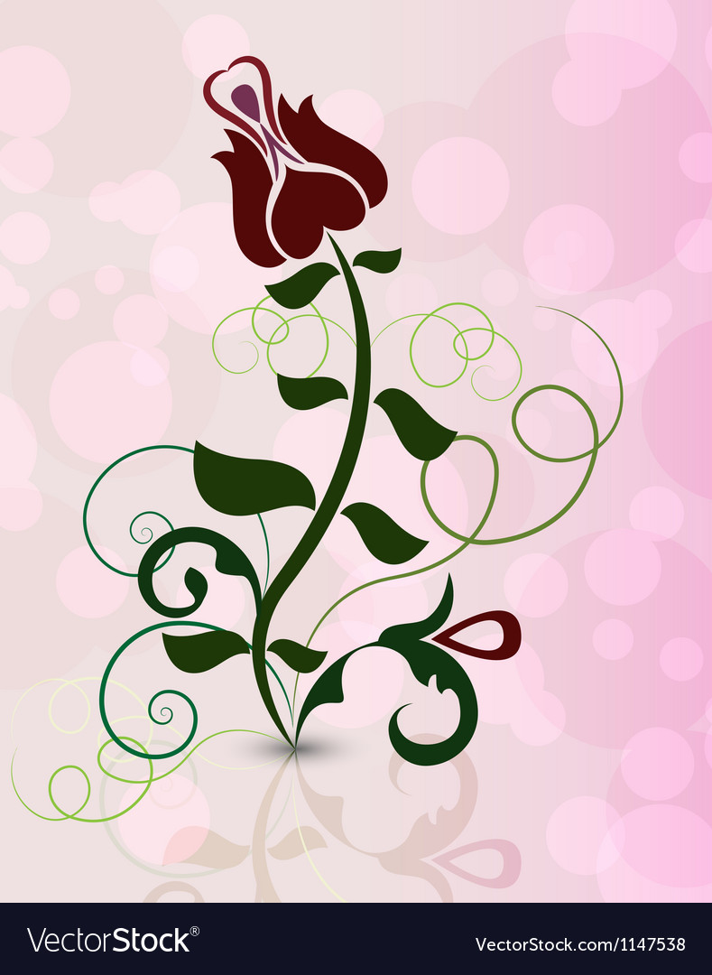 Rose flower on pinky background vector | Price: 1 Credit (USD $1)
