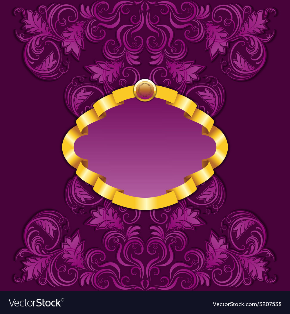 Royal frame with damask ornament vector | Price: 1 Credit (USD $1)