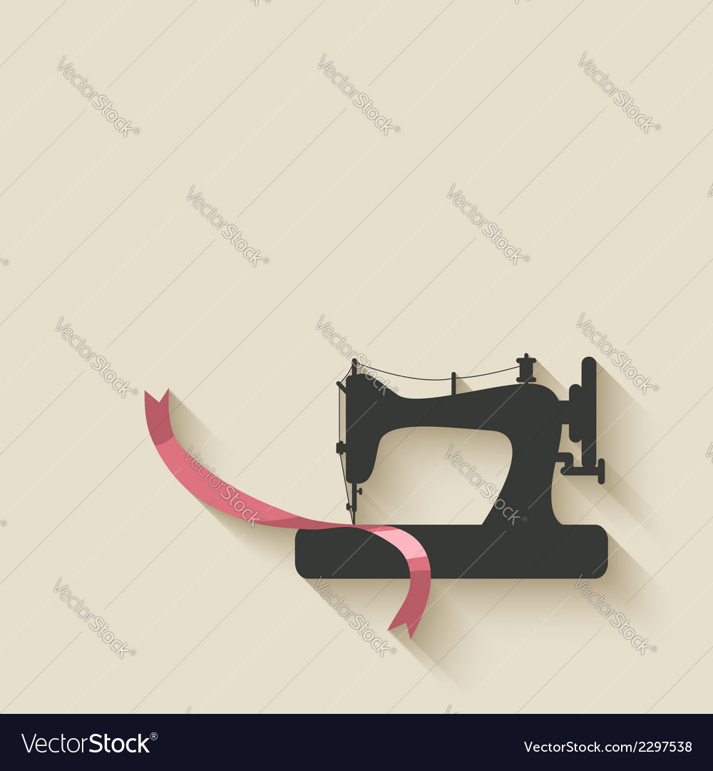 Sewing machine background vector | Price: 1 Credit (USD $1)