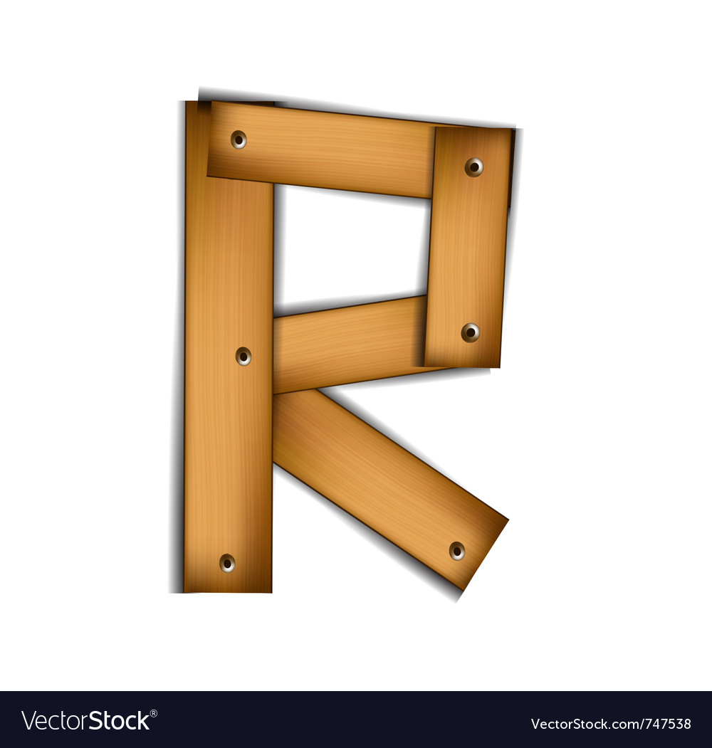 Wooden type r vector | Price: 1 Credit (USD $1)