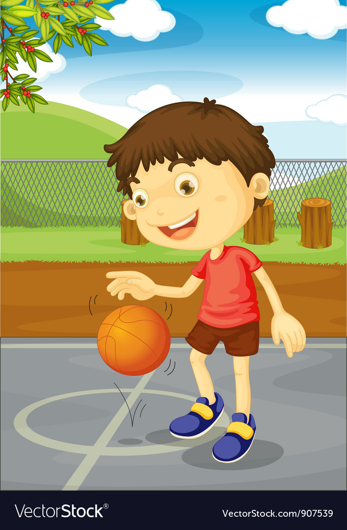 Basketball boy vector | Price: 3 Credit (USD $3)