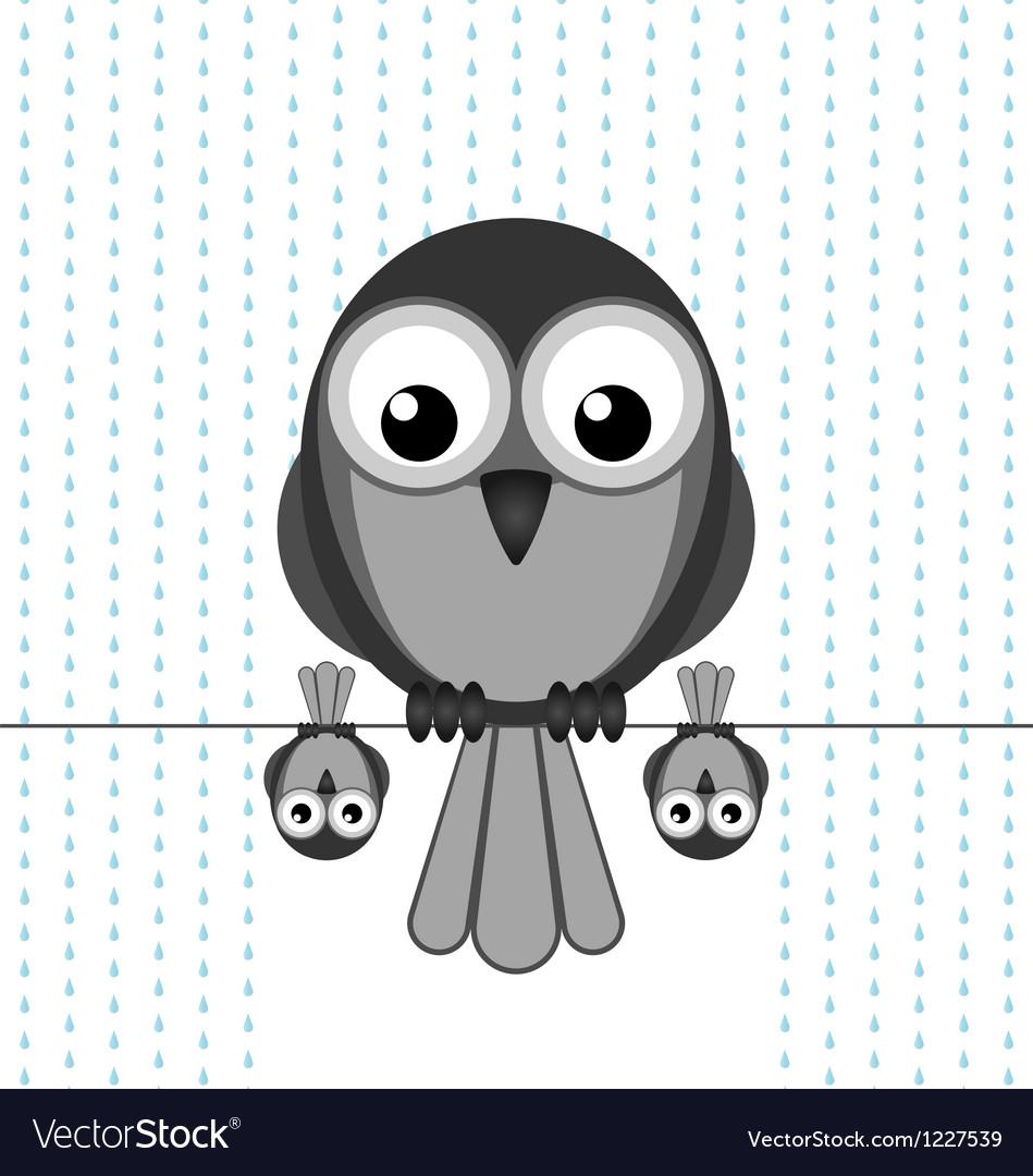 Bird shelter rain vector | Price: 1 Credit (USD $1)