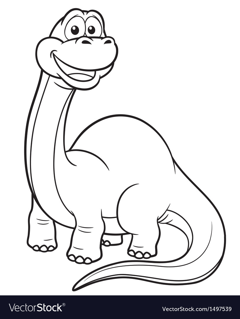 Dinosaur outline vector | Price: 1 Credit (USD $1)