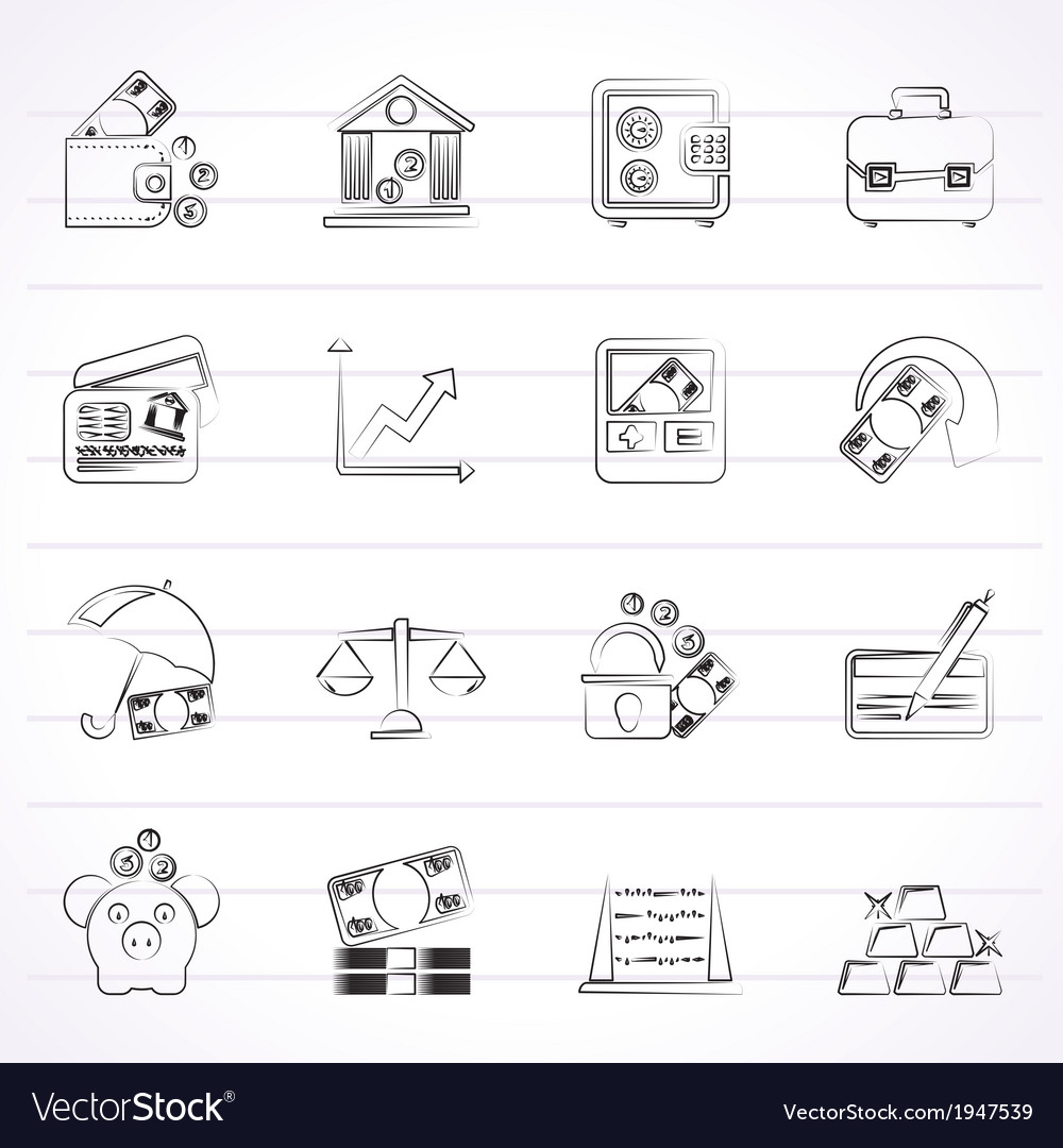Finance and bank icons vector | Price: 1 Credit (USD $1)