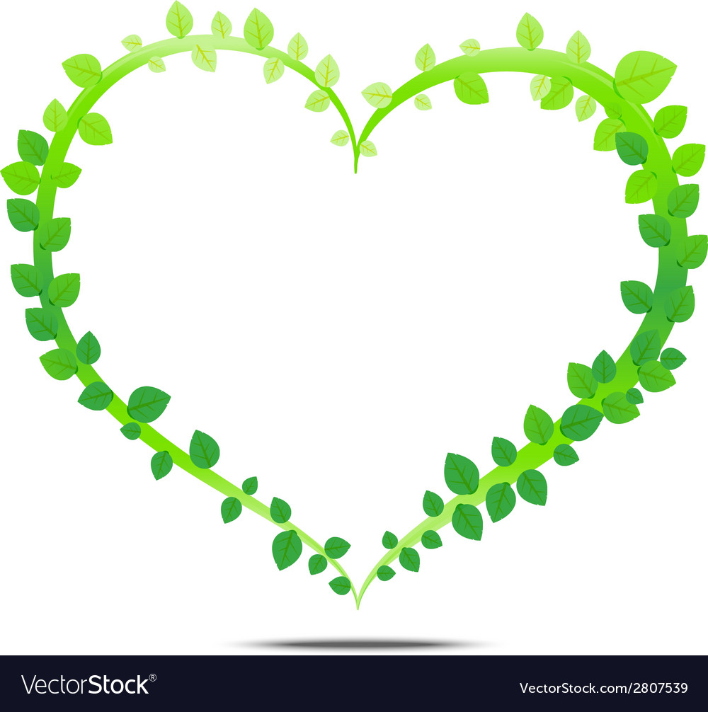 Leaf of heart vector | Price: 1 Credit (USD $1)