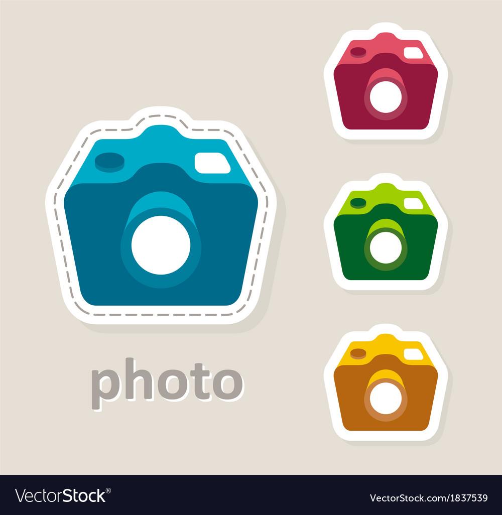 Photo camera lens icon vector | Price: 1 Credit (USD $1)
