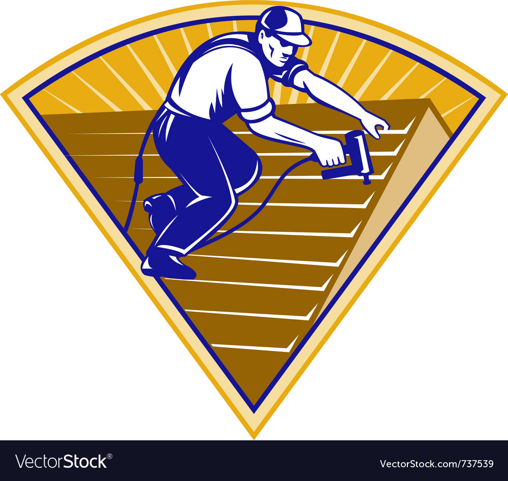 Roofing worker vector | Price: 1 Credit (USD $1)