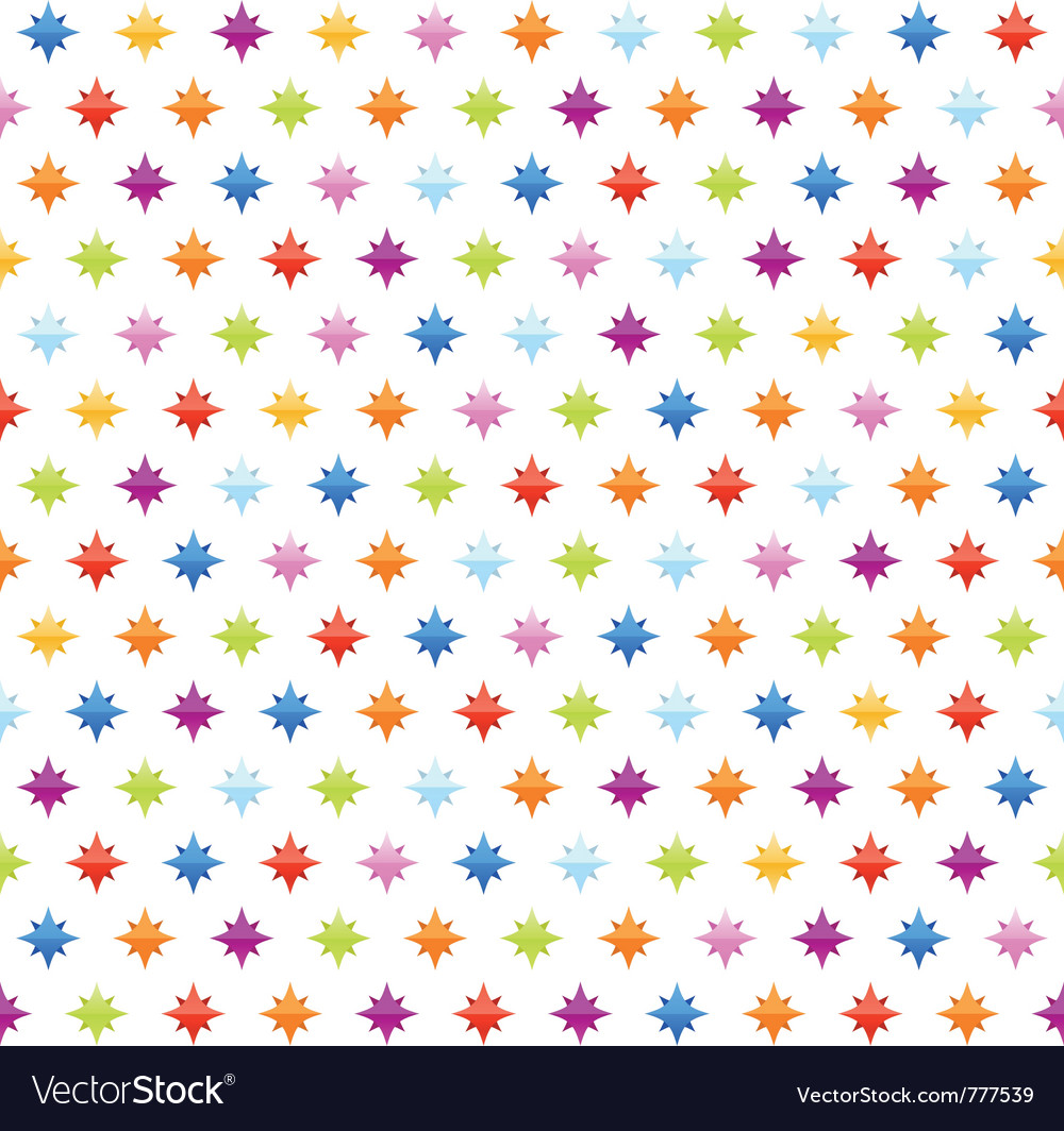 Seamless background pattern with stars vector | Price: 1 Credit (USD $1)